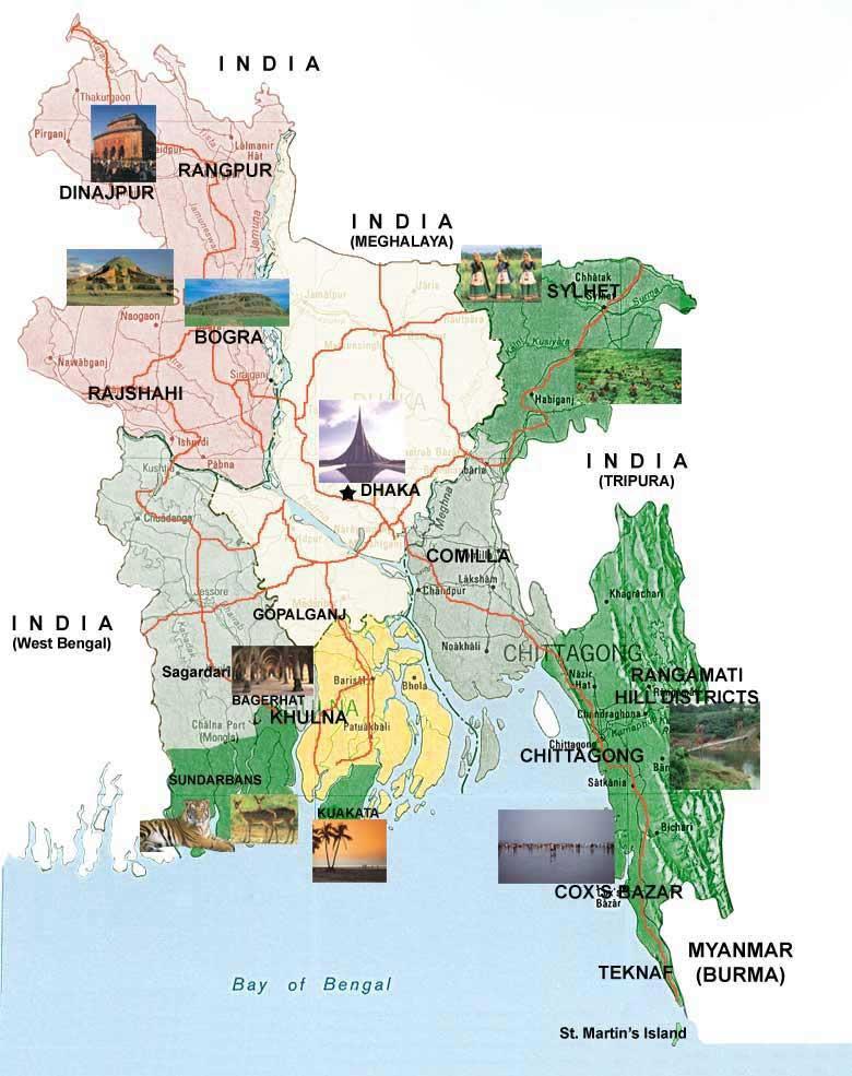 Bangladesh-Tourist-Map